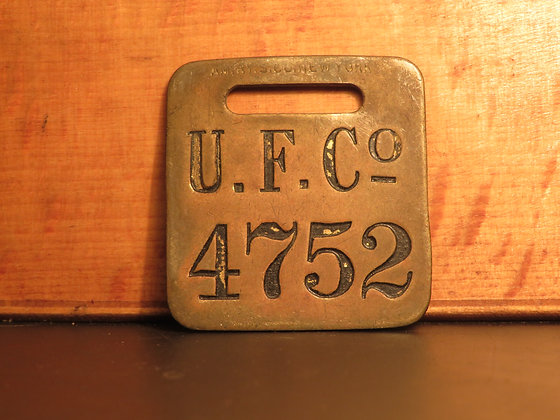 UFCO Brass Luggage Tag 4752