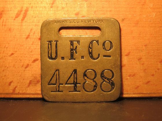 UFCO Brass Luggage Tag 4488