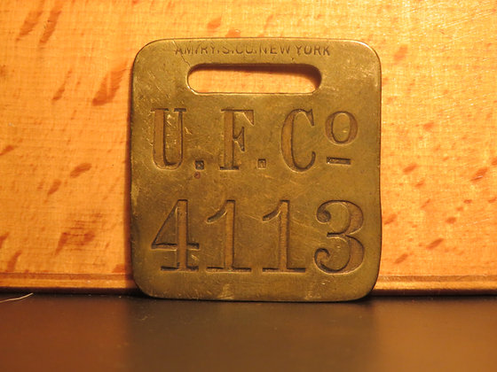 UFCO Brass Luggage Tag F4113