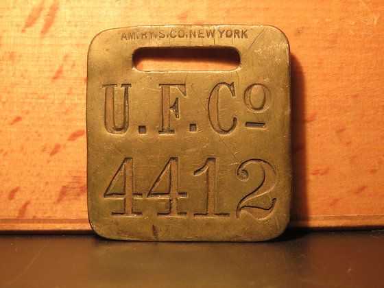 UFCO Brass Luggage Tag 4412