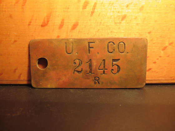 UFCO Brass Inventory Tag 2145