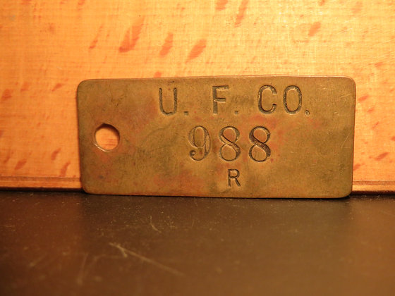 Brass Inventory Tag 988