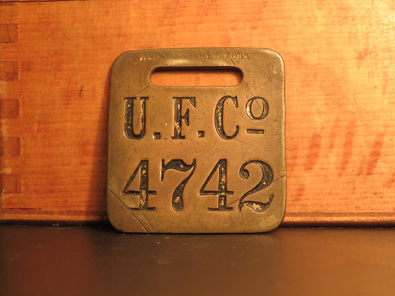 UFCO Brass Luggage Tag 4742