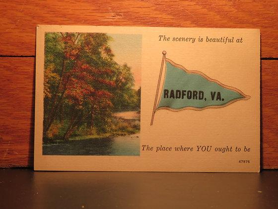 The Scenery is Beautiful at Radford, Virginia