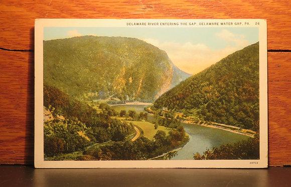 Delaware River Entering The Gap, Delaware Water Gap, Pennsylvania