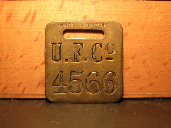 UFCO Brass Luggage Tag 4566