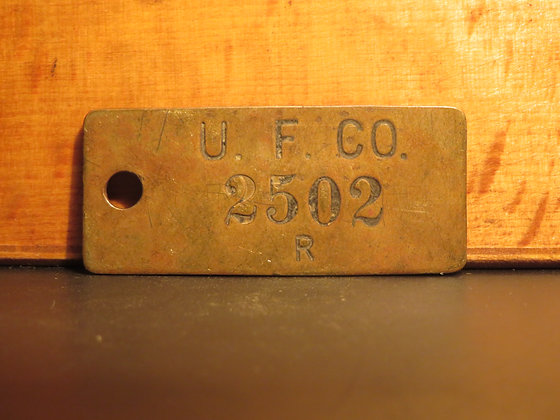 UFCO Brass Inventory Tag 2502