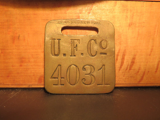 UFCO Brass Luggage Tag 4031