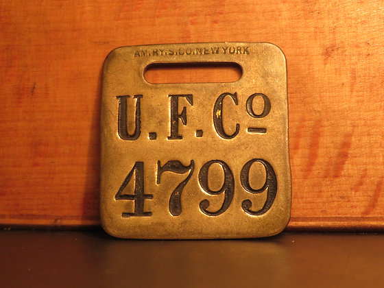 UFCO Brass Luggage Tag 4799
