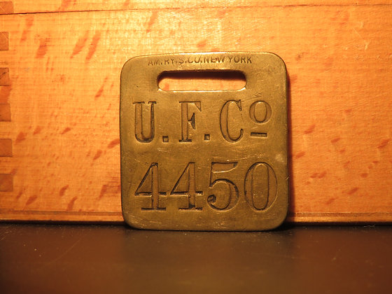 UFCO Brass Luggage Tag 4450