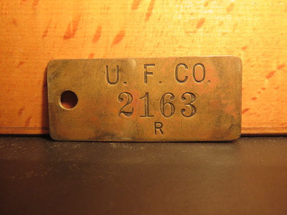 UFCO Brass Inventory Tag 2163