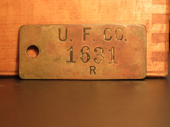 UFCO Brass Inventory Tag 1631