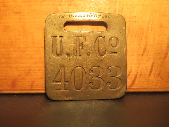 UFCO Brass Luggage Tag 4033