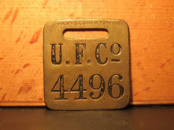 UFCO Brass Luggage Tag 4496