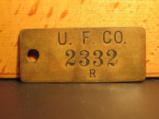 UFCO Brass Inventory Tag 2332