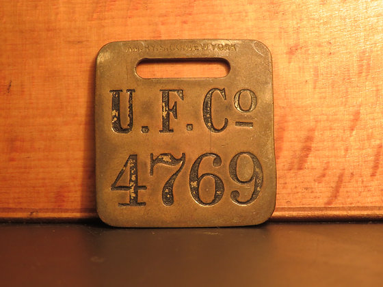 UFCO Brass Luggage Tag 4769