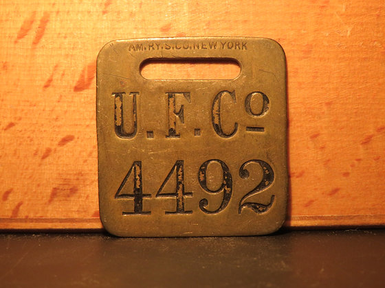 UFCO Brass Luggage Tag 4492