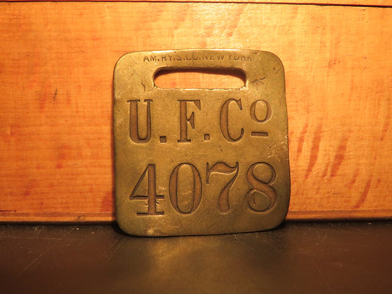UFCO Brass Luggage Tag 4078