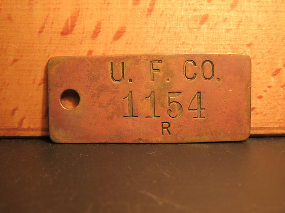 Brass Inventory Tag 1154