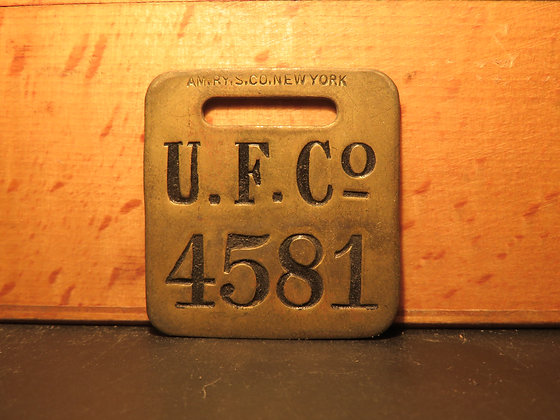 UFCO Brass Luggage Tag 4581