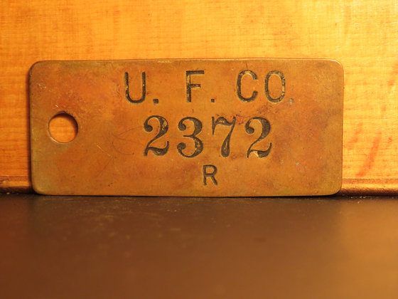 UFCO Brass Inventory Tag 2372