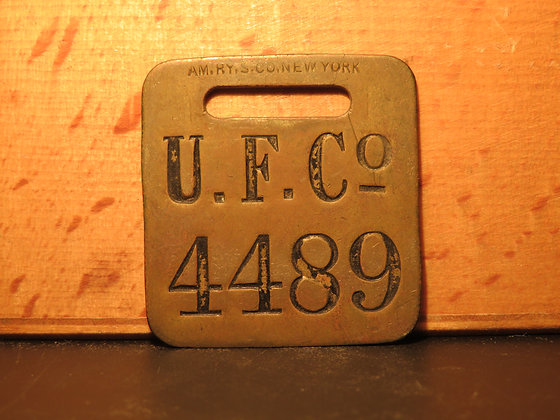 UFCO Brass Luggage Tag 4489