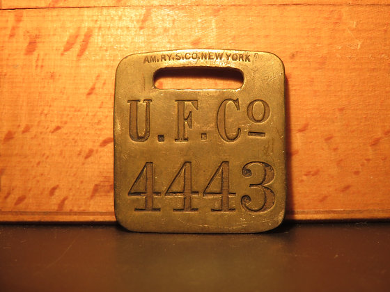 UFCO Brass Luggage Tag 4443