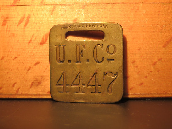 UFCO Brass Luggage Tag 4447