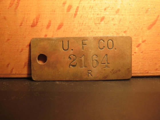 UFCO Brass Inventory Tag 2164