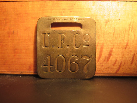 UFCO Brass Luggage Tag 4067