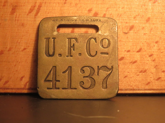 UFCO Brass Luggage Tag F4137