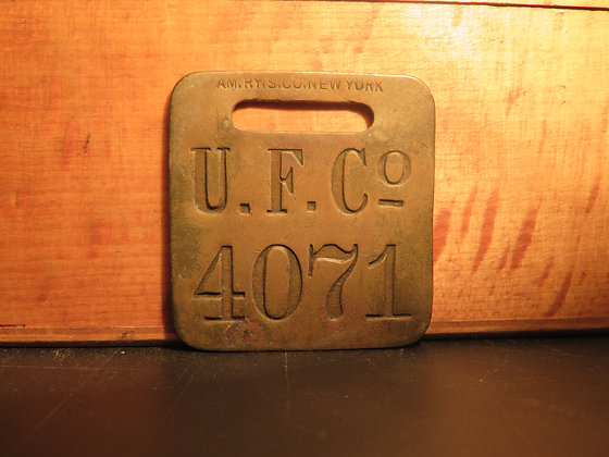 UFCO Brass Luggage Tag 4071