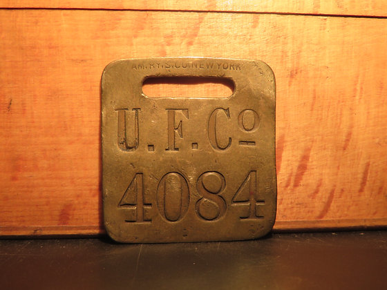 UFCO Brass Luggage Tag 4084