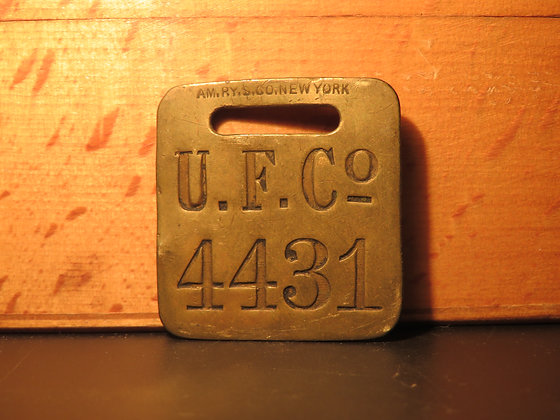 UFCO Brass Luggage Tag 4431