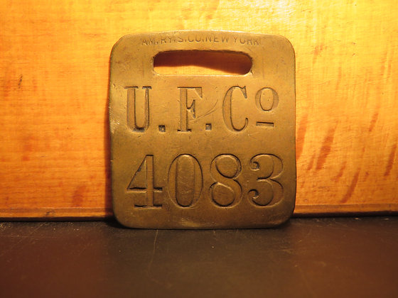 UFCO Brass Luggage Tag 4083