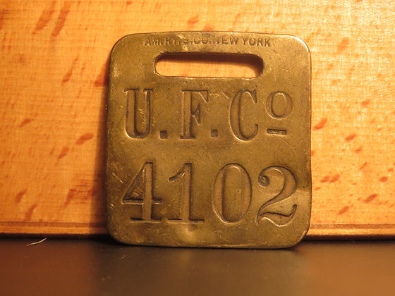 UFCO Brass Luggage Tag F4102