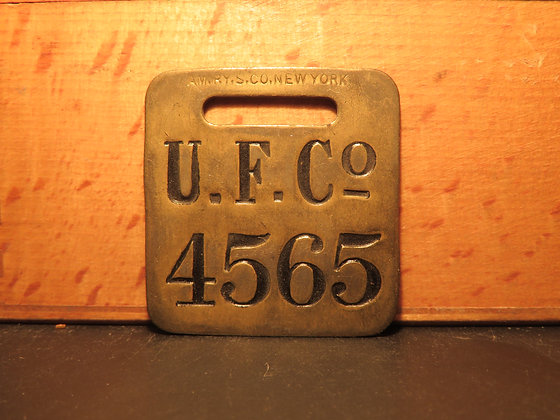 UFCO Brass Luggage Tag 4565