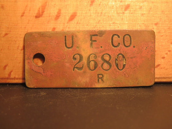 UFCO Brass Inventory Tag 2680