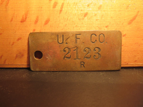 UFCO Brass Inventory Tag 2123
