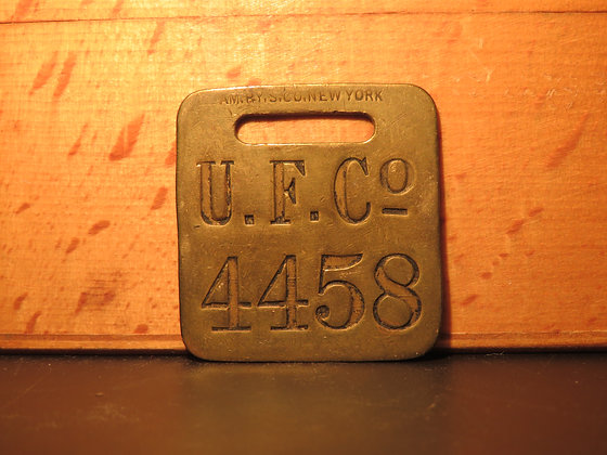 UFCO Brass Luggage Tag 4458