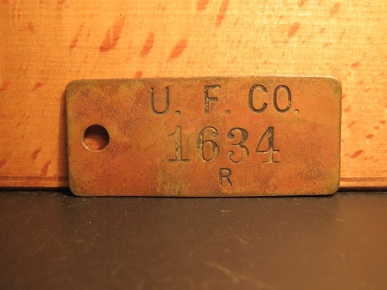 UFCO Brass Inventory Tag 1634