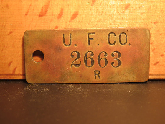UFCO Brass Inventory Tag 2663
