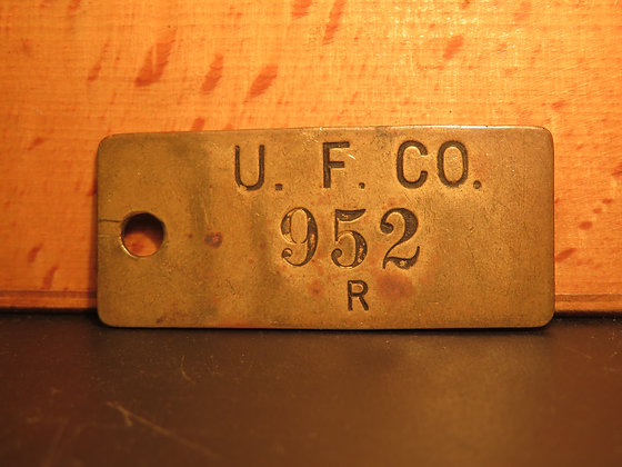 Brass Inventory Tag 952