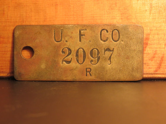 UFCO Brass Inventory Tag 2097