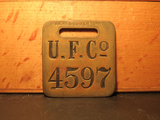 UFCO Brass Luggage Tag 4597