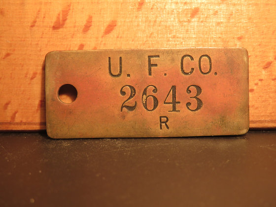 UFCO Brass Inventory Tag 2643
