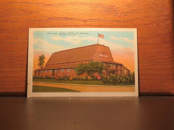 Log Cabin, Central State Fair Grounds, Aurora, Illinois