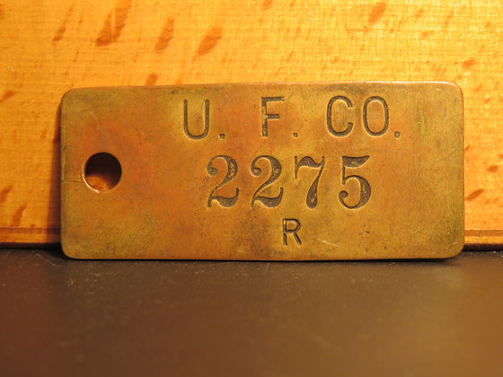 UFCO Brass Inventory Tag 2275