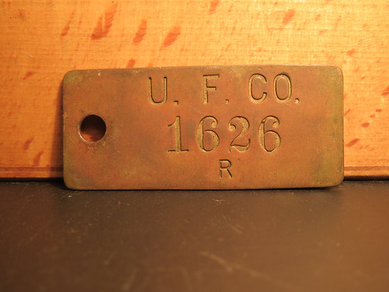 Brass Inventory Tag 1626