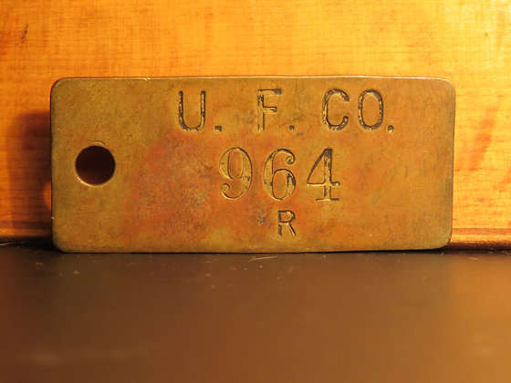 UFCO Brass Inventory Tag 964